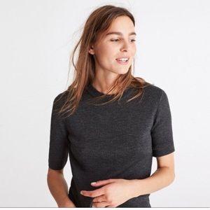 Madewell Ribbed Knit Merino Wool Sweater Top